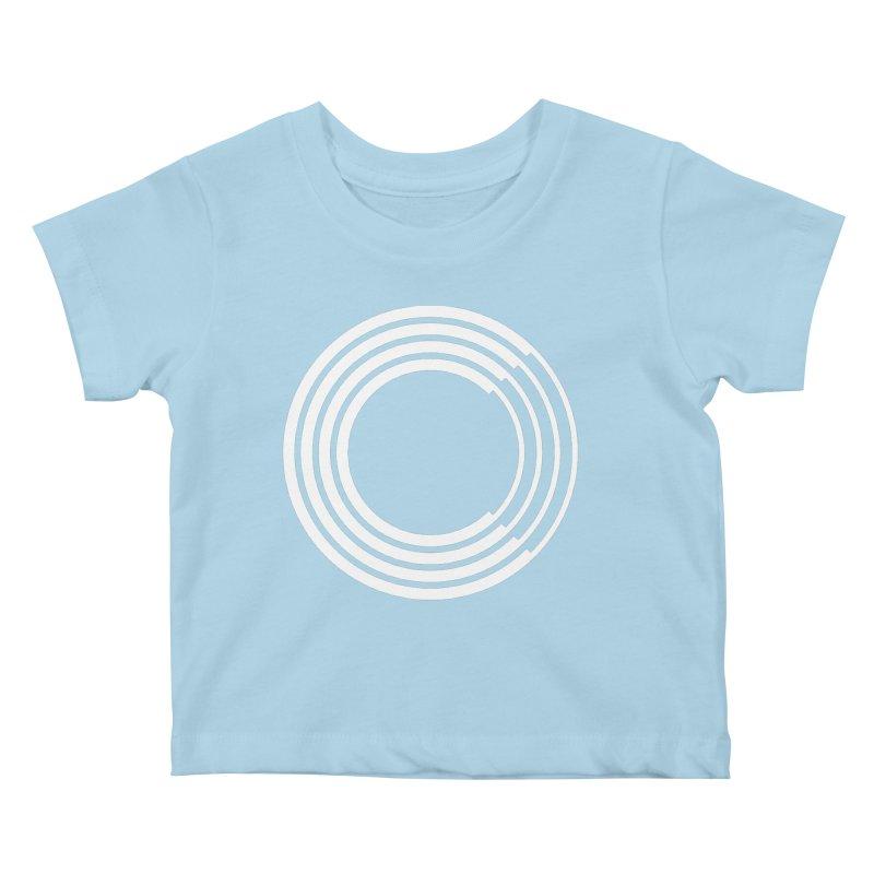 Chorus.fm White Logo (Centered) Kids Baby T-Shirt by Chorus.fm Shop