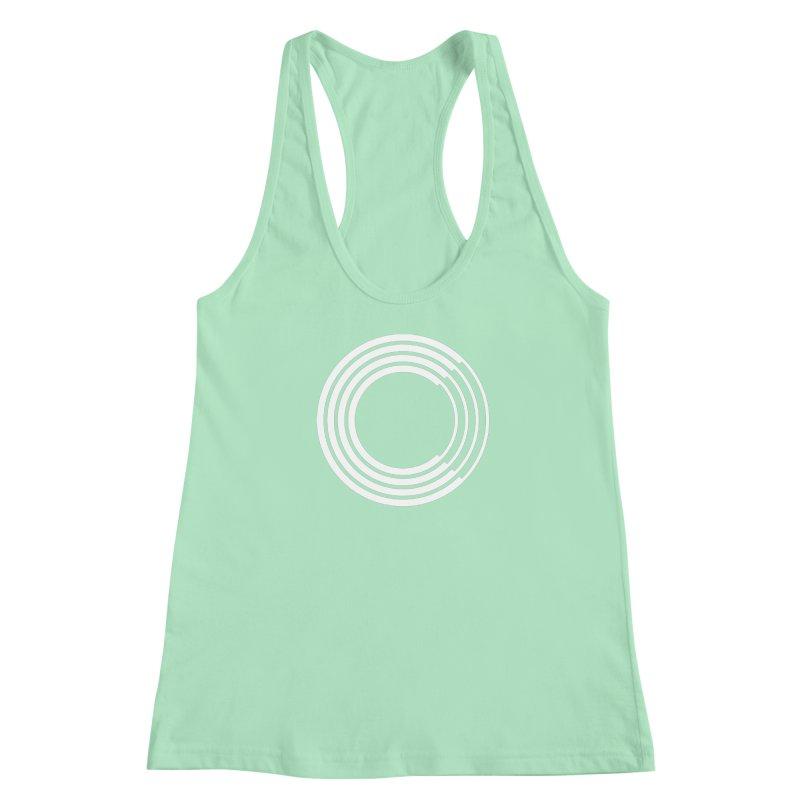 Chorus.fm White Logo (Centered) Women's Racerback Tank by Chorus.fm Shop
