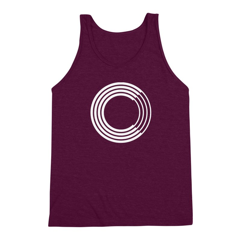 Chorus.fm White Logo (Centered) Men's Triblend Tank by Chorus.fm Shop