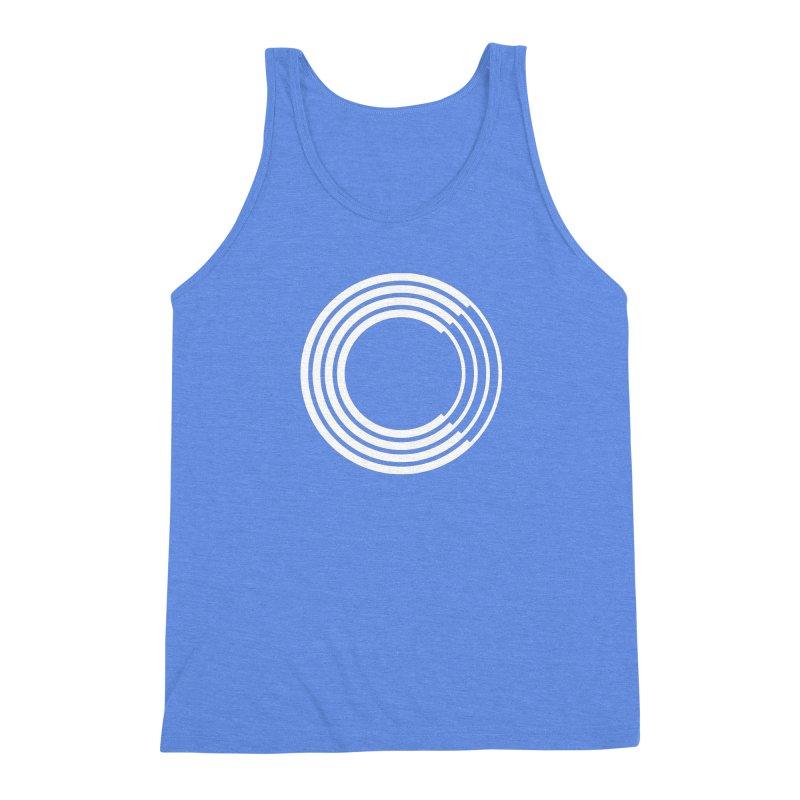 Chorus.fm White Logo (Centered) Men's Triblend Tank by Chorus.fm Shop