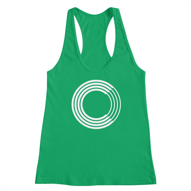 Chorus.fm White Logo (Centered) Women's Racerback Tank by Chorus.fm Shop