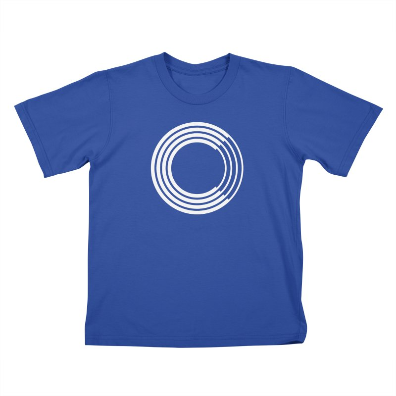 Chorus.fm White Logo (Centered) Kids T-Shirt by Chorus.fm Shop