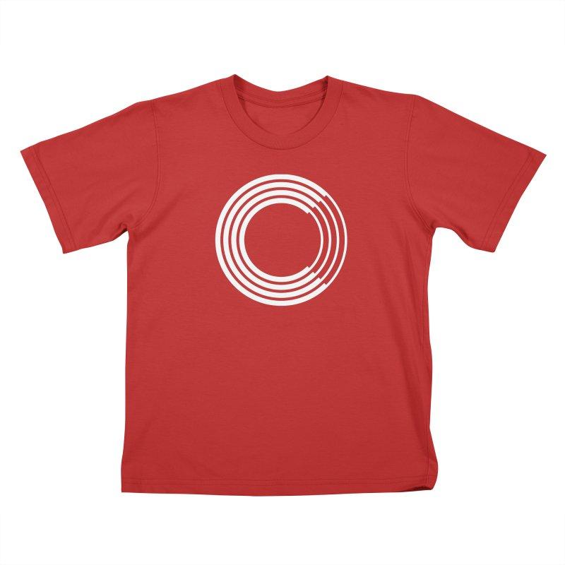 Chorus.fm White Logo (Centered) Kids T-Shirt by Chorus.fm Shop