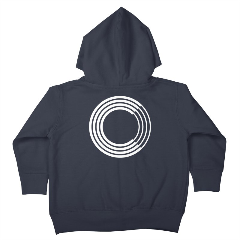 Chorus.fm White Logo (Centered) Kids Toddler Zip-Up Hoody by Chorus.fm Shop