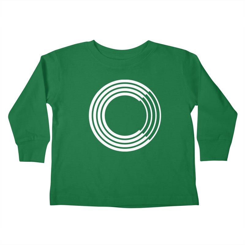 Chorus.fm White Logo (Centered) Kids Toddler Longsleeve T-Shirt by Chorus.fm Shop