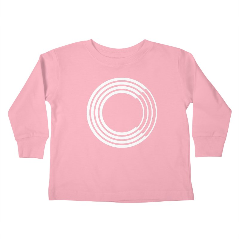 Chorus.fm White Logo (Centered) Kids Toddler Longsleeve T-Shirt by Chorus.fm Shop