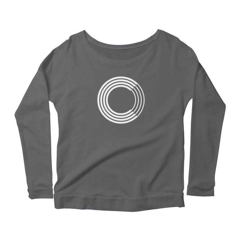Chorus.fm White Logo (Centered) Women's Scoop Neck Longsleeve T-Shirt by Chorus.fm Shop