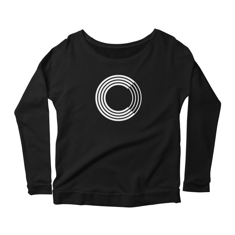 Chorus.fm White Logo (Centered) Women's Scoop Neck Longsleeve T-Shirt by Chorus.fm Shop
