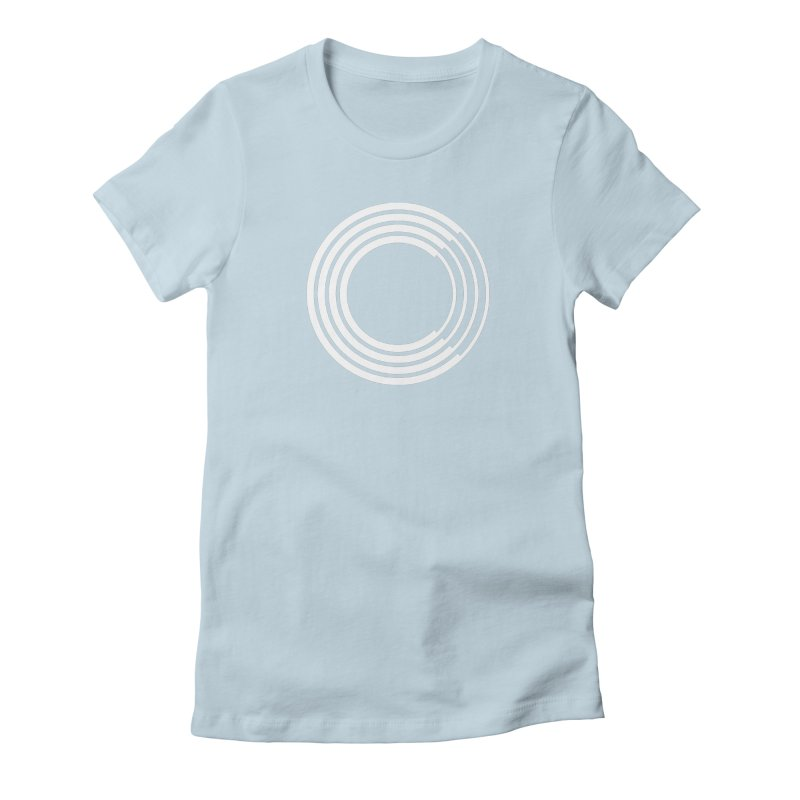 Chorus.fm White Logo (Centered) Women's Fitted T-Shirt by Chorus.fm Shop