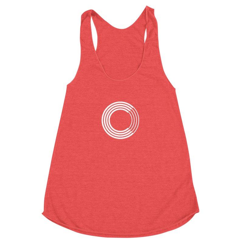 Chorus.fm White Logo (Centered) Women's Racerback Triblend Tank by Chorus.fm Shop