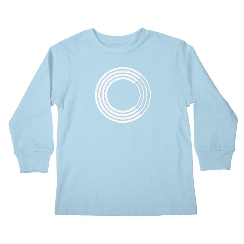 Chorus.fm White Logo (Centered) Kids Longsleeve T-Shirt by Chorus.fm Shop