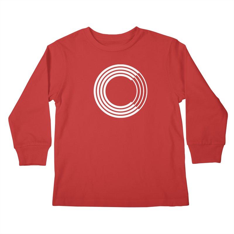 Chorus.fm White Logo (Centered) Kids Longsleeve T-Shirt by Chorus.fm Shop