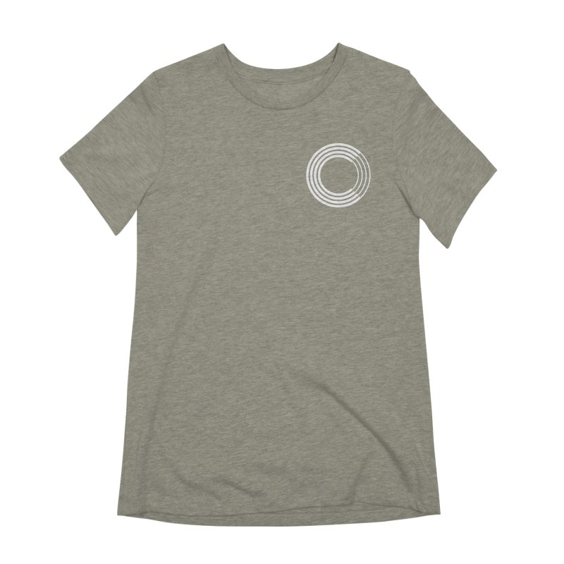 Chorus.fm White Logo (Breast) Women's Extra Soft T-Shirt by Chorus.fm Shop