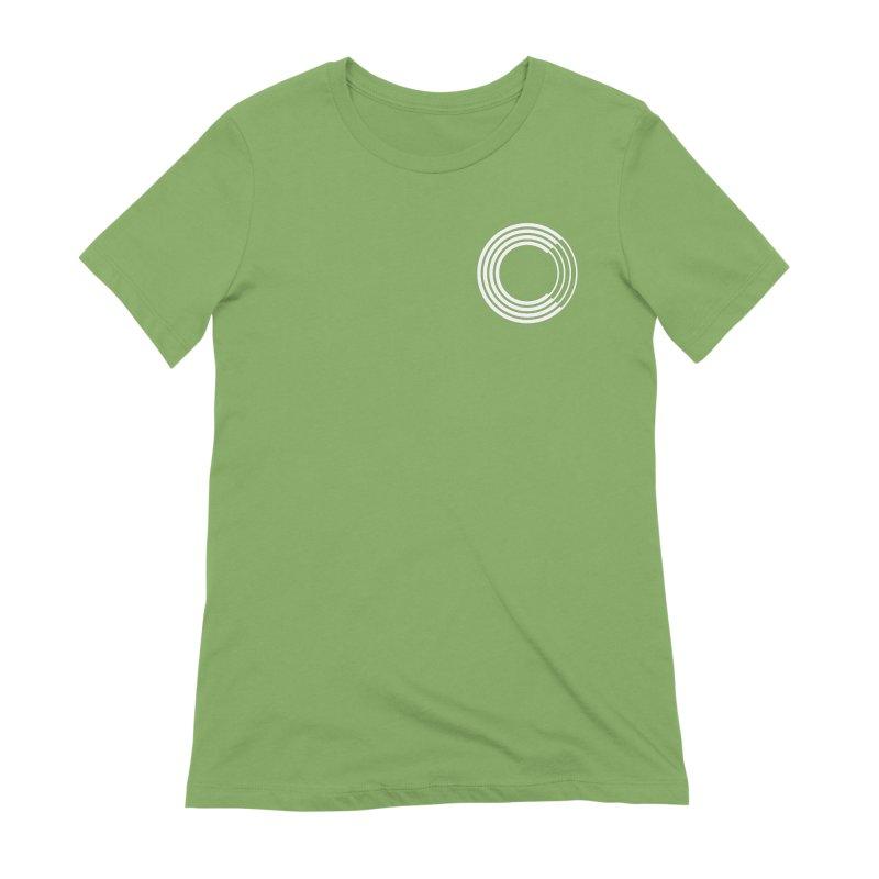 Chorus.fm White Logo (Breast) Women's Extra Soft T-Shirt by Chorus.fm Shop
