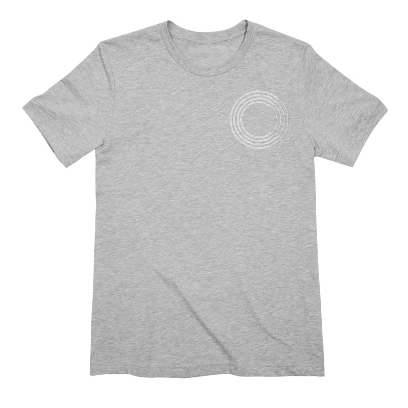 Chorus.fm White Logo (Breast) Men's Extra Soft T-Shirt by Chorus.fm Shop