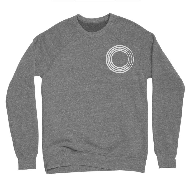 Chorus.fm White Logo (Breast) Men's Sponge Fleece Sweatshirt by Chorus.fm Shop