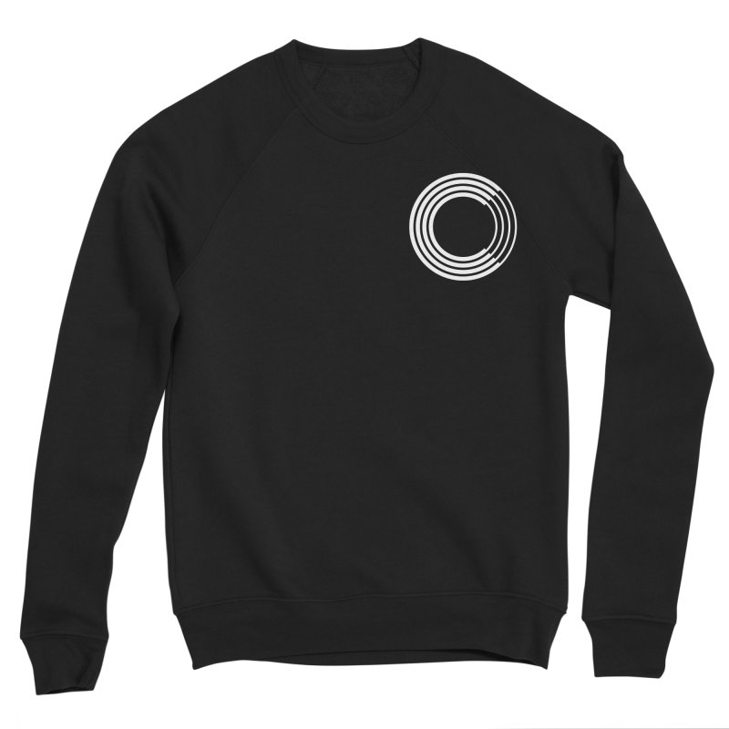 Chorus.fm White Logo (Breast) Men's Sponge Fleece Sweatshirt by Chorus.fm Shop