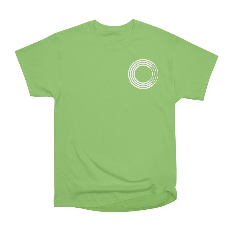 Chorus.fm White Logo (Breast) Men's Heavyweight T-Shirt by Chorus.fm Shop