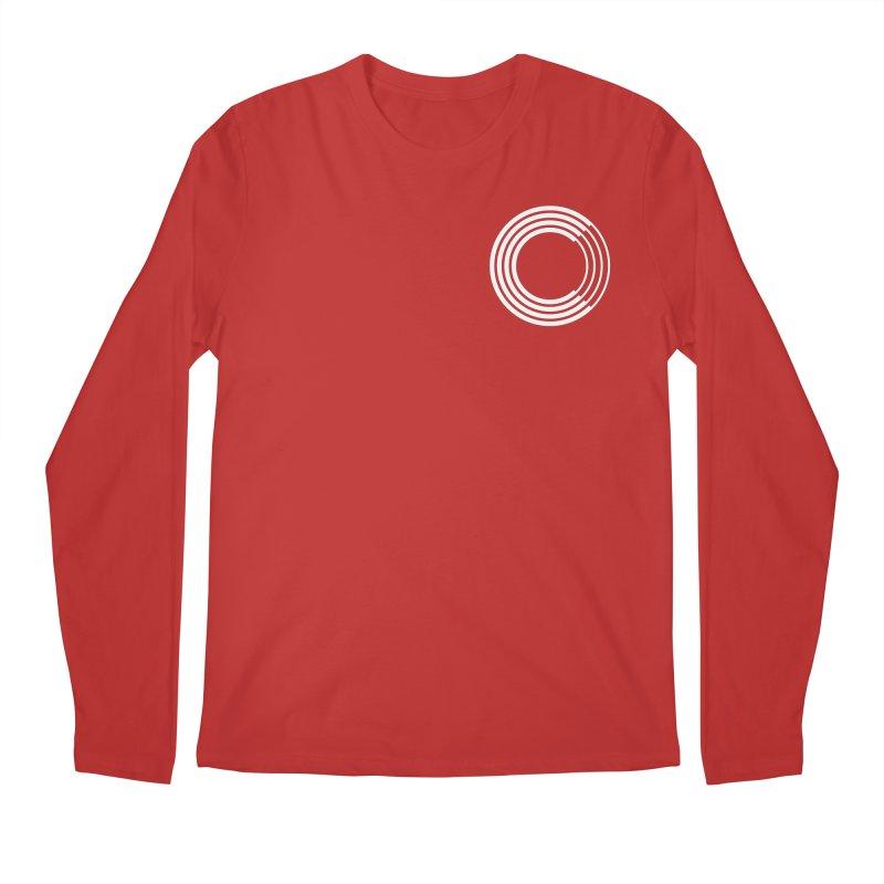 Chorus.fm White Logo (Breast) Men's Regular Longsleeve T-Shirt by Chorus.fm Shop