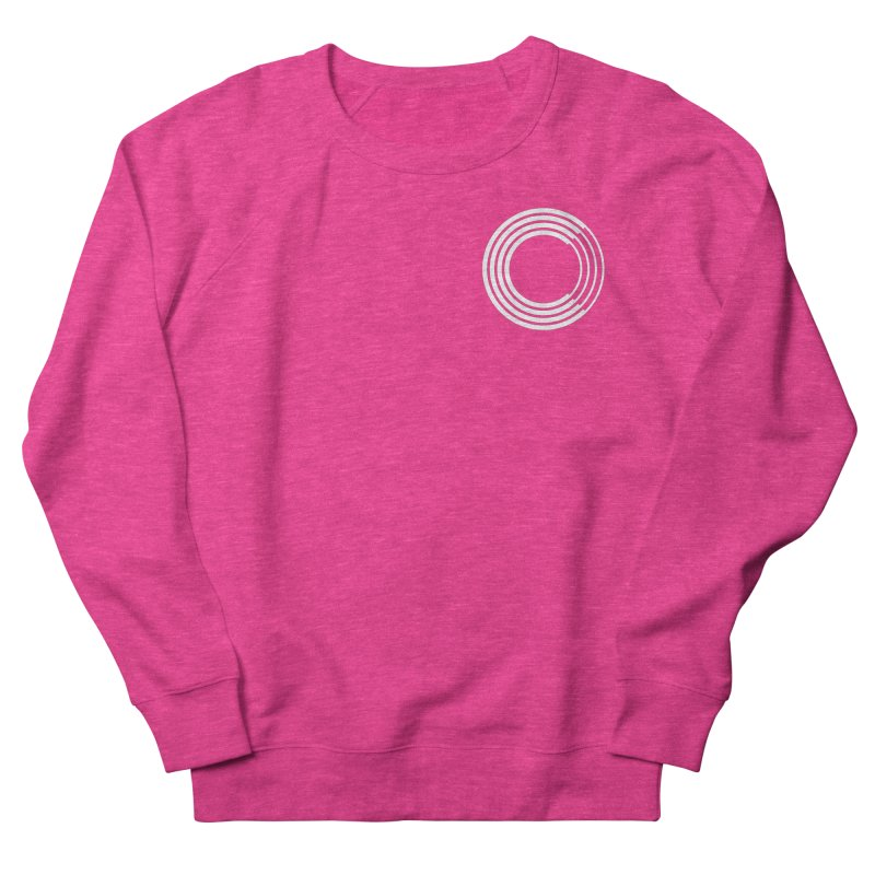 Chorus.fm White Logo (Breast) Women's French Terry Sweatshirt by Chorus.fm Shop