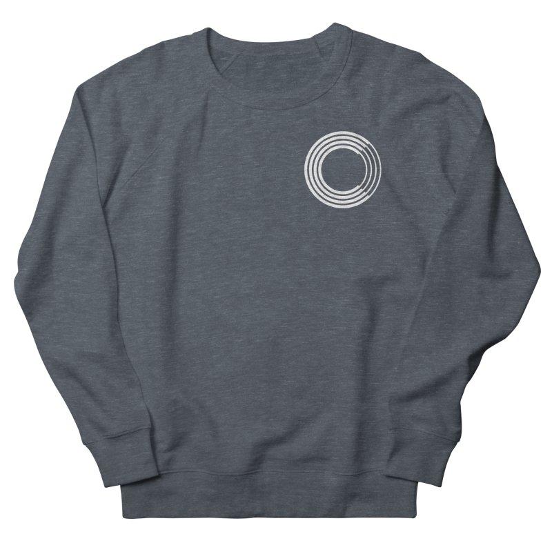 Chorus.fm White Logo (Breast) Men's French Terry Sweatshirt by Chorus.fm Shop