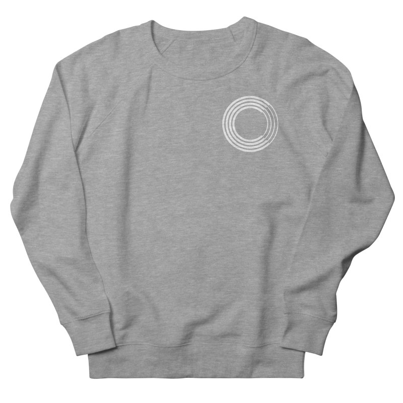 Chorus.fm White Logo (Breast) Men's French Terry Sweatshirt by Chorus.fm Shop