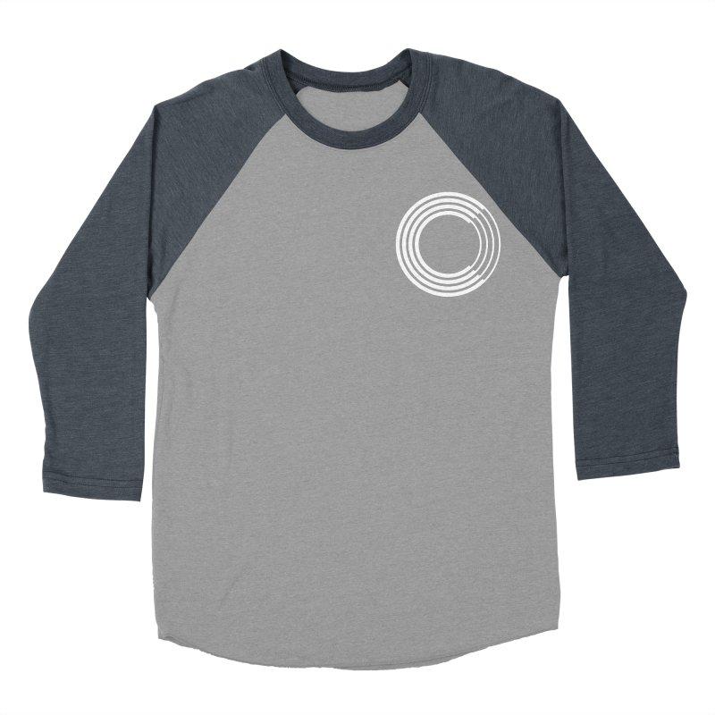 Chorus.fm White Logo (Breast) Women's Baseball Triblend Longsleeve T-Shirt by Chorus.fm Shop