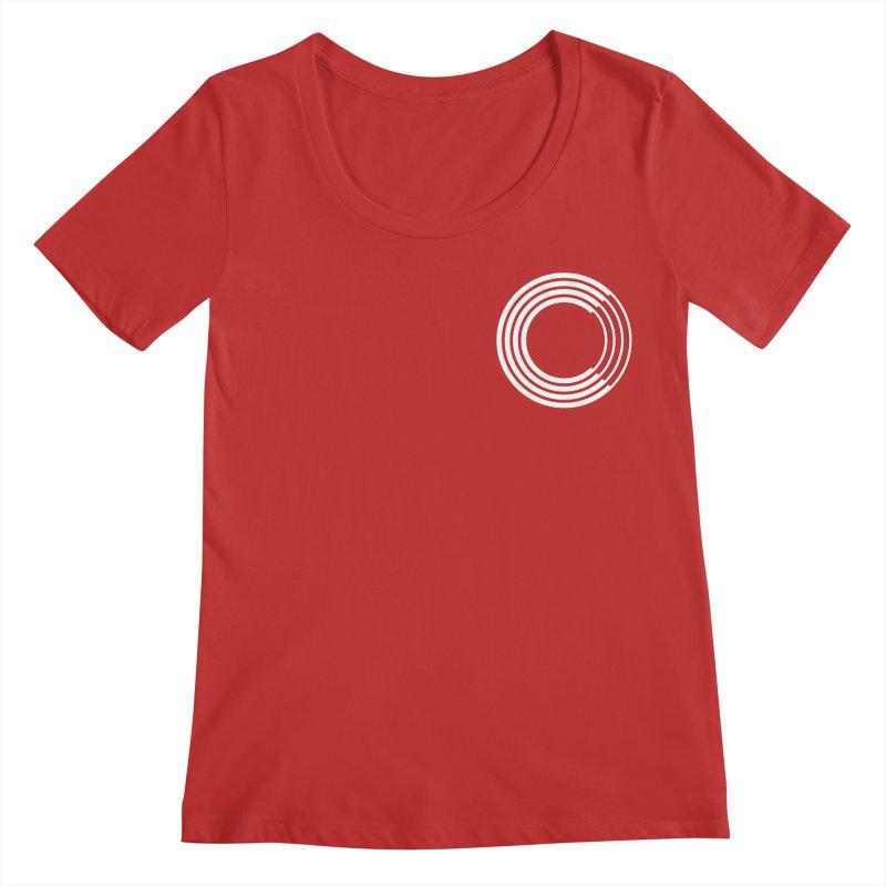 Chorus.fm White Logo (Breast) Women's Regular Scoop Neck by Chorus.fm Shop