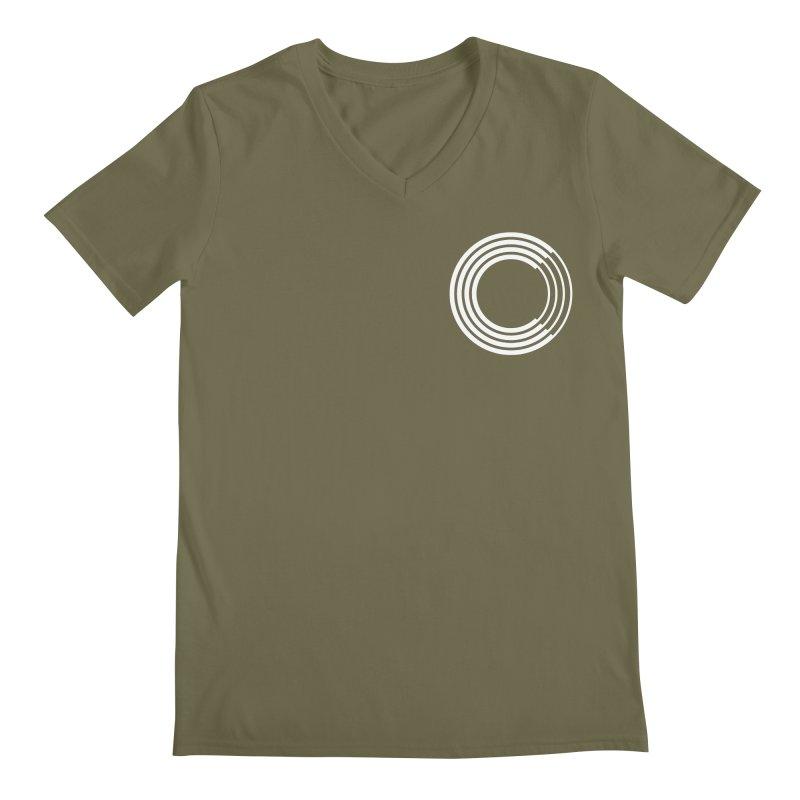 Chorus.fm White Logo (Breast) Men's Regular V-Neck by Chorus.fm Shop
