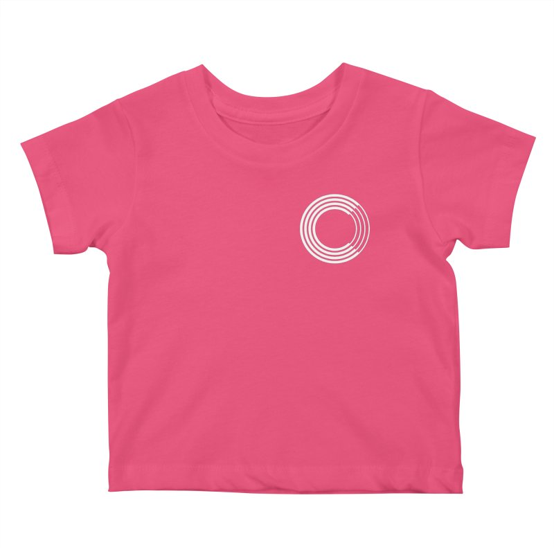 Chorus.fm White Logo (Breast) Kids Baby T-Shirt by Chorus.fm Shop