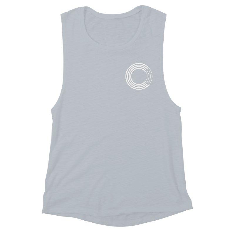 Chorus.fm White Logo (Breast) Women's Muscle Tank by Chorus.fm Shop
