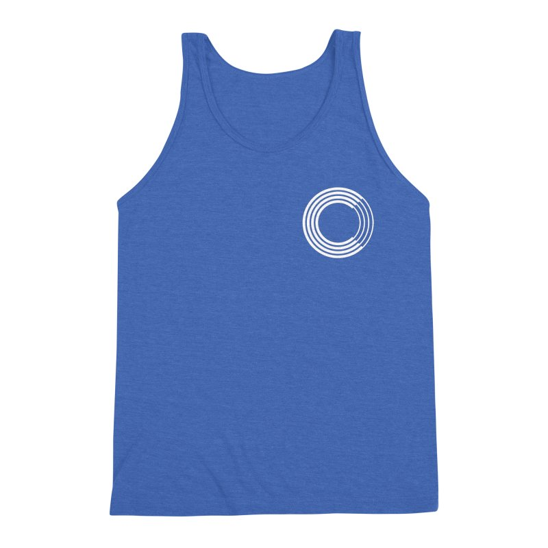 Chorus.fm White Logo (Breast) Men's Triblend Tank by Chorus.fm Shop