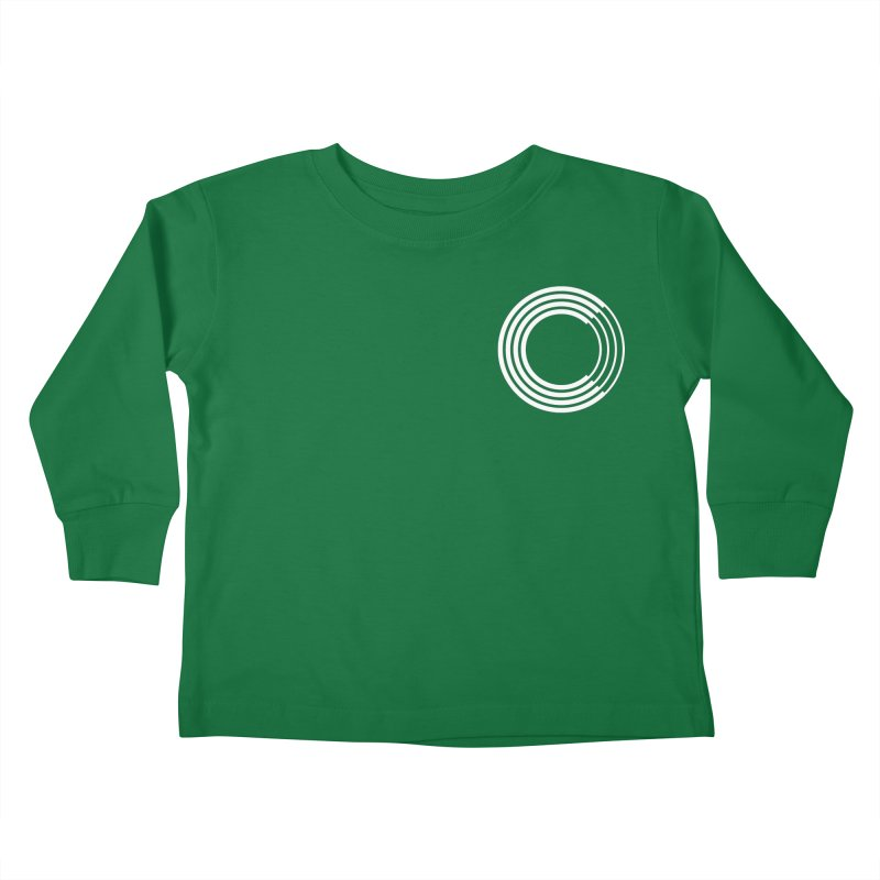 Chorus.fm White Logo (Breast) Kids Toddler Longsleeve T-Shirt by Chorus.fm Shop