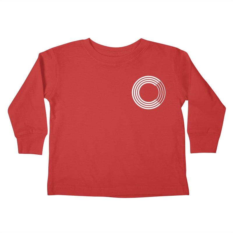 Chorus.fm White Logo (Breast) Kids Toddler Longsleeve T-Shirt by Chorus.fm Shop