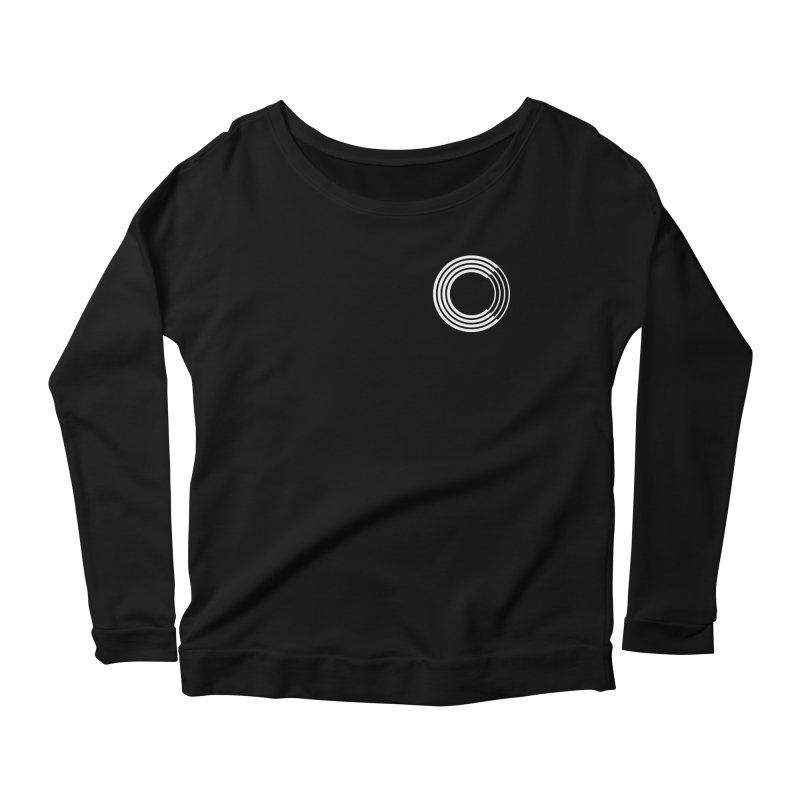 Chorus.fm White Logo (Breast) Women's Scoop Neck Longsleeve T-Shirt by Chorus.fm Shop