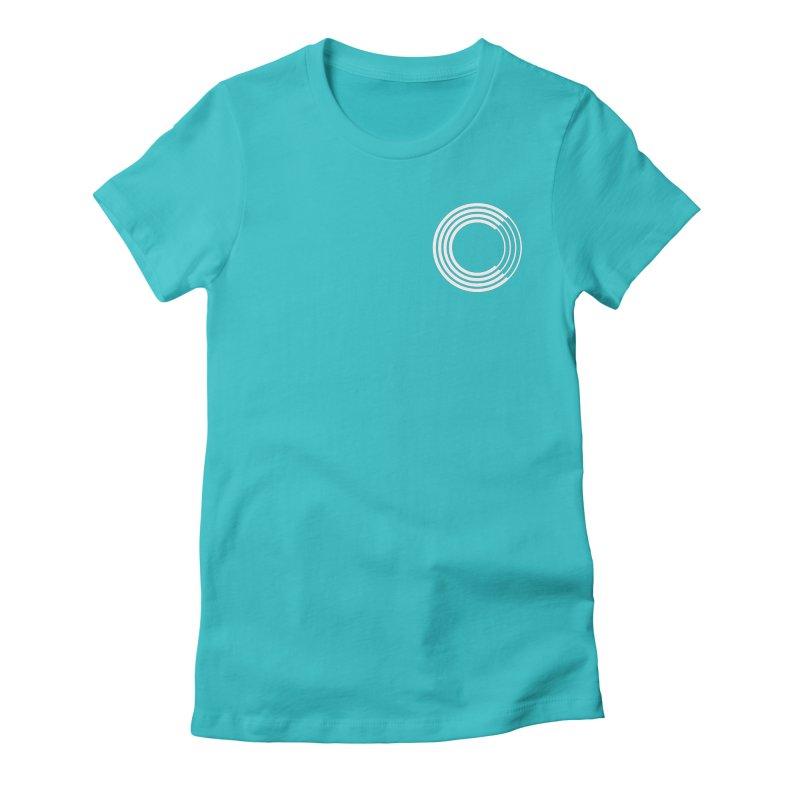Chorus.fm White Logo (Breast) Women's Fitted T-Shirt by Chorus.fm Shop