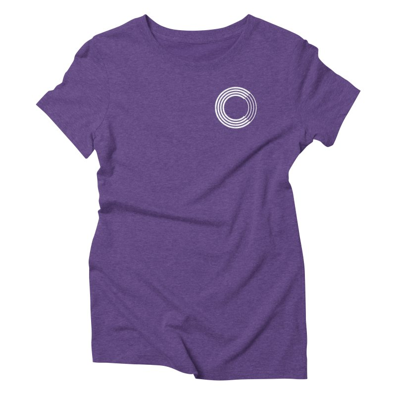 Chorus.fm White Logo (Breast) Women's Triblend T-Shirt by Chorus.fm Shop