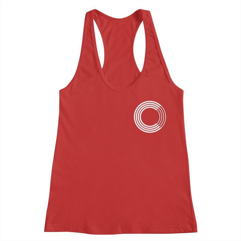 Chorus.fm White Logo (Breast) Women's Racerback Tank by Chorus.fm Shop