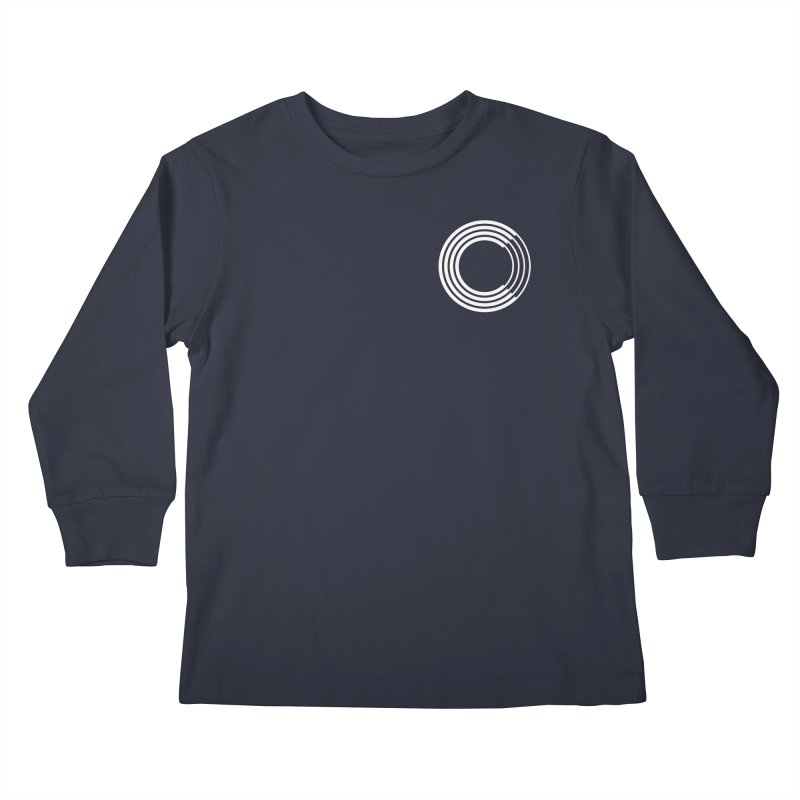 Chorus.fm White Logo (Breast) Kids Longsleeve T-Shirt by Chorus.fm Shop