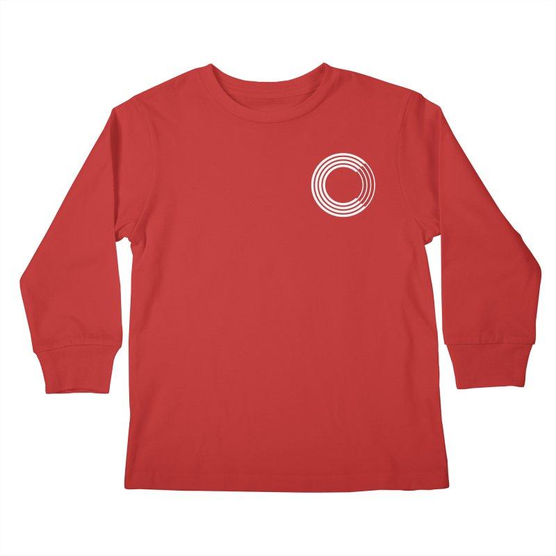 Chorus.fm White Logo (Breast) Kids Longsleeve T-Shirt by Chorus.fm Shop