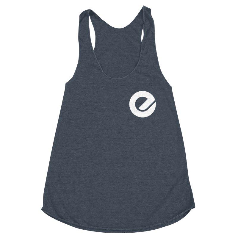 Encore Logo (Breast) Women's Racerback Triblend Tank by Chorus.fm Shop