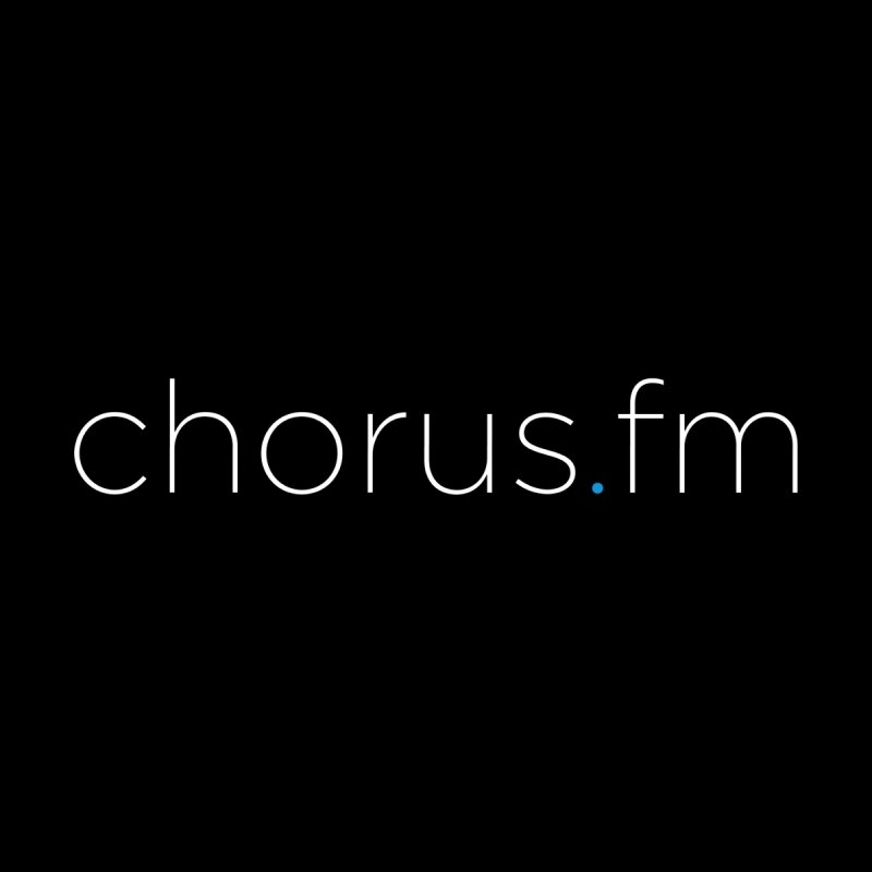 Chorus.fm Text Logo (Centered) Men's T-Shirt by Chorus.fm Shop