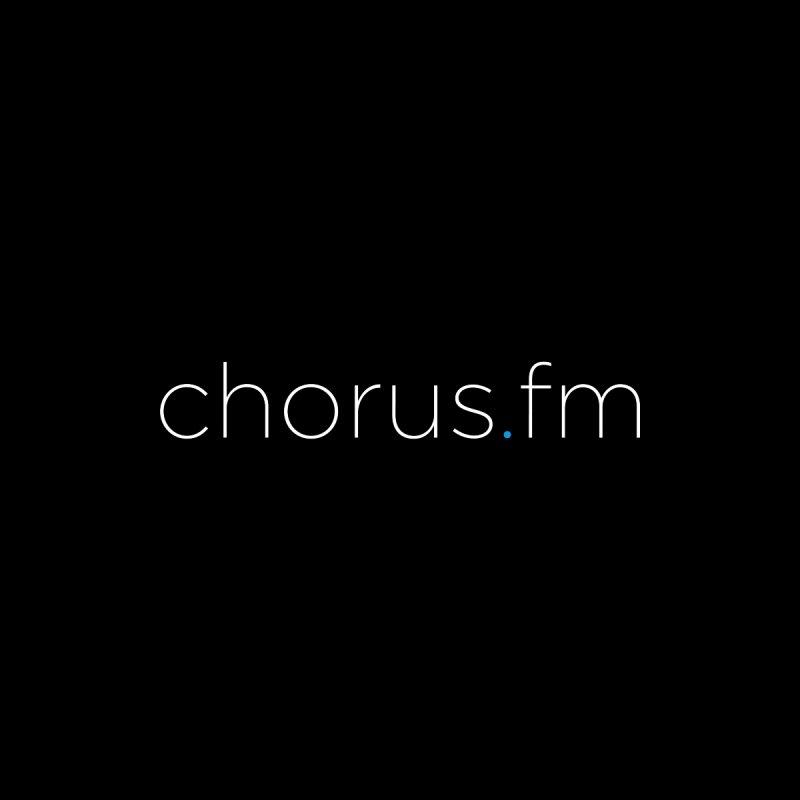 Chorus.fm Text Logo (Centered) Men's T-Shirt by Chorus.fm Shop