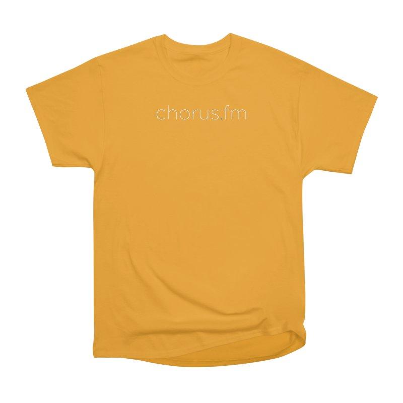Chorus.fm Text Logo (Centered) Men's Heavyweight T-Shirt by Chorus.fm Shop