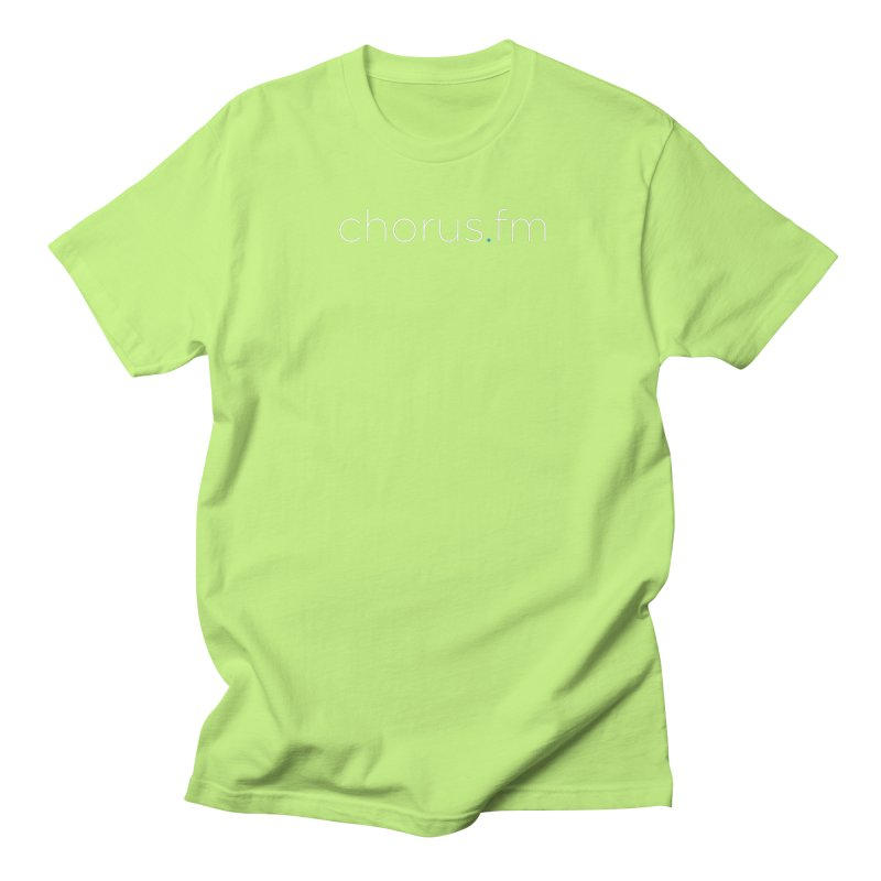 Chorus.fm Text Logo (Centered) Men's Regular T-Shirt by Chorus.fm Shop