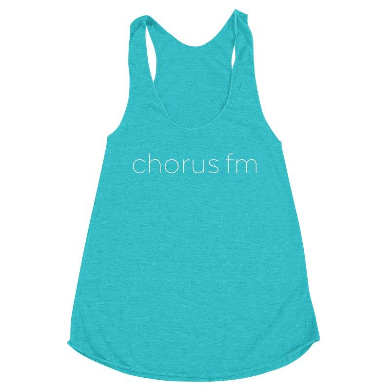 Chorus.fm Text Logo (Centered) Women's Racerback Triblend Tank by Chorus.fm Shop
