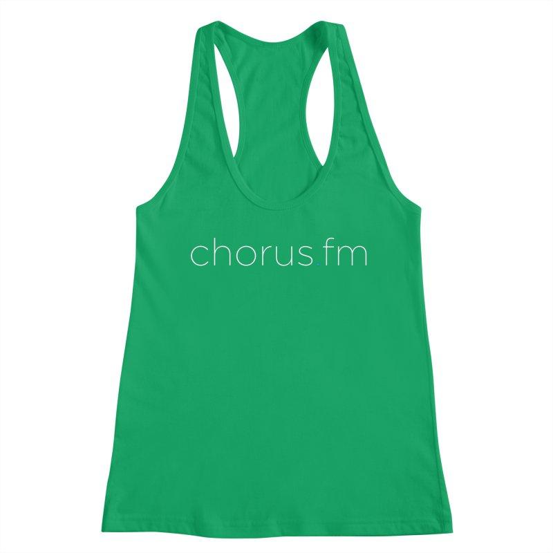 Chorus.fm Text Logo (Centered) Women's Racerback Tank by Chorus.fm Shop