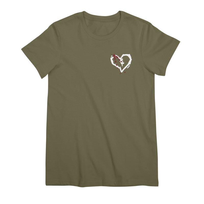 AbsolutePunk.net White Logo (Breast) Women's Premium T-Shirt by Chorus.fm Shop