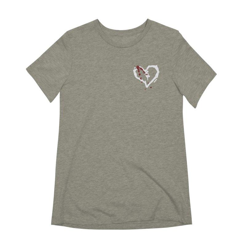AbsolutePunk.net White Logo (Breast) Women's Extra Soft T-Shirt by Chorus.fm Shop