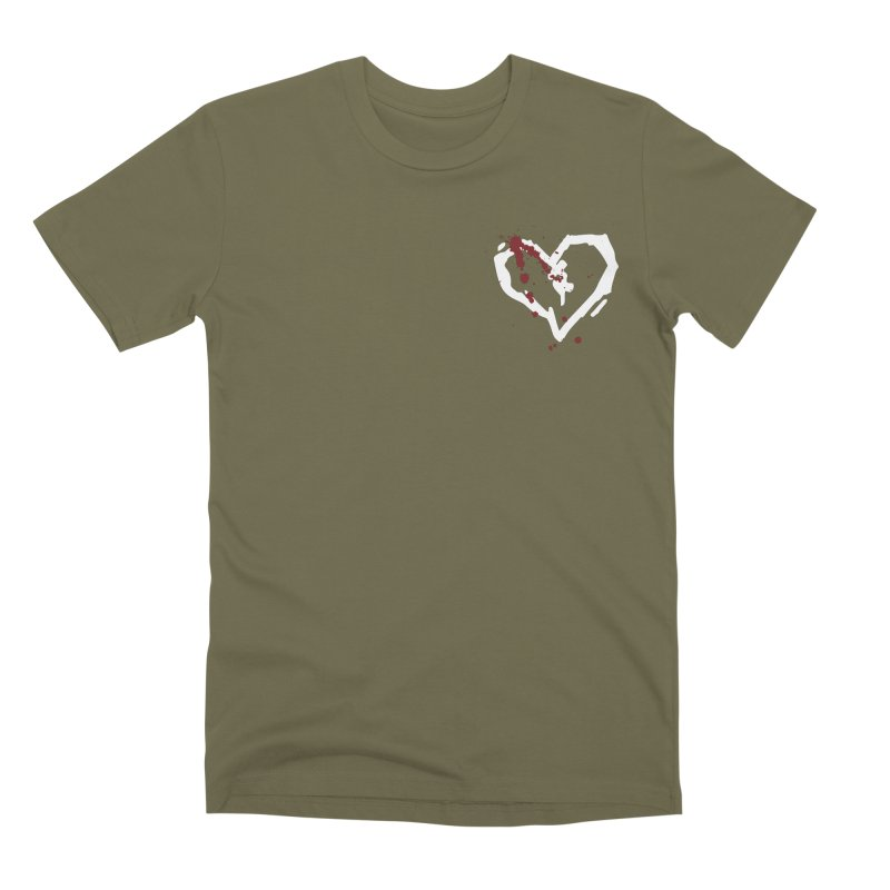AbsolutePunk.net White Logo (Breast) Men's Premium T-Shirt by Chorus.fm Shop